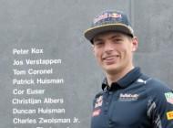 Naam Max Verstappen op Monument